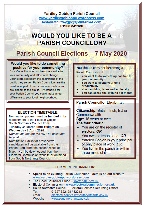 Parish Council Elections 2020